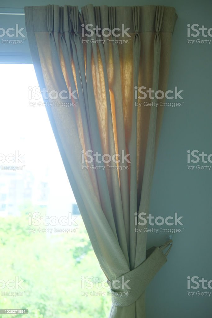 Curtain Knob With Bow Decoration In Home Stock Photo More Pictures