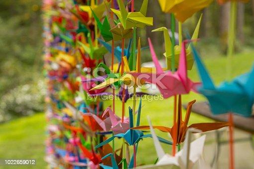 ᐈ Imagen De Cortina De Grullas De Origami Como Decoración