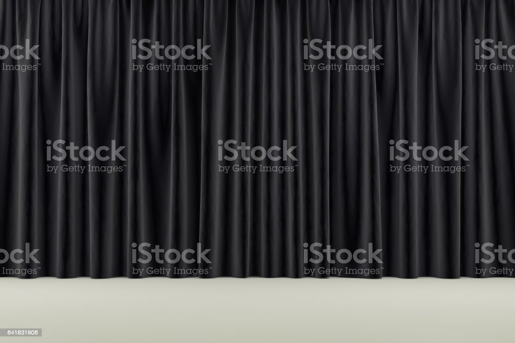 curtain or drapes background. 3d render stock photo