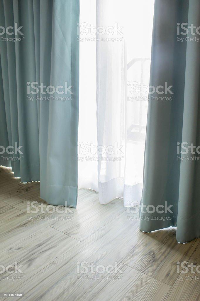 curtain part of draperies photo libre de droits