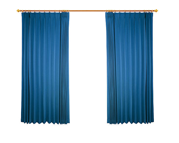 curtain blue curtain isolated on white background revival stock pictures, royalty-free photos & images