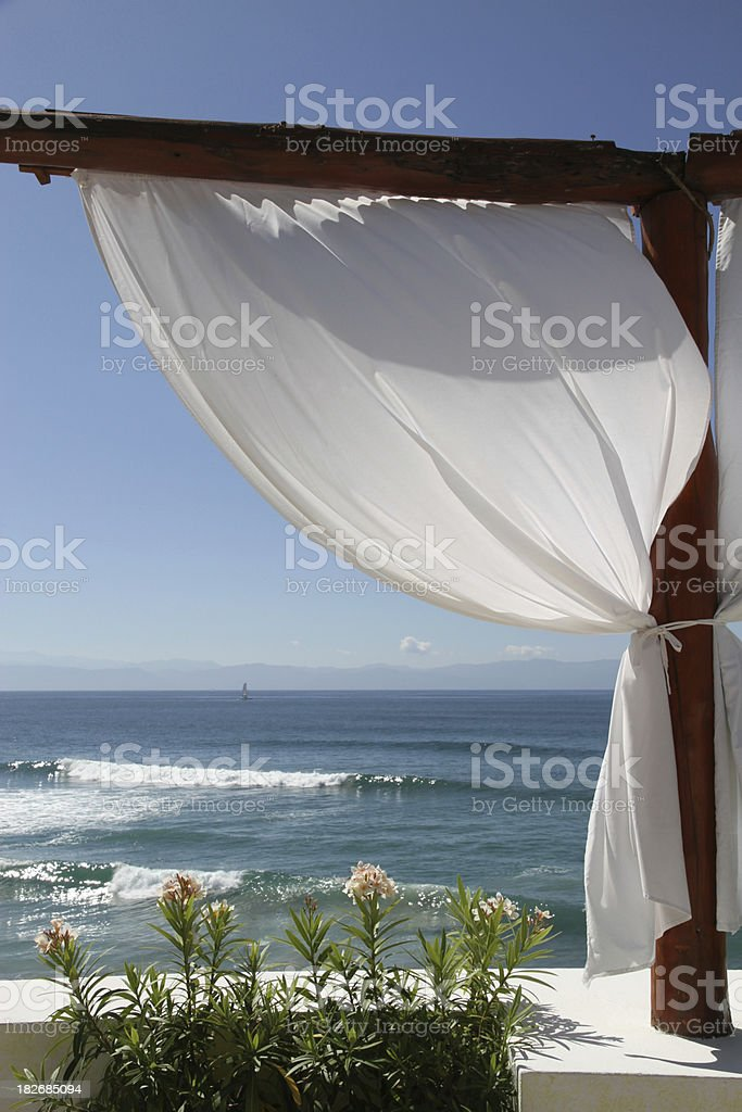 Curtained Vacation stock photo