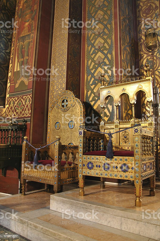 Curtea de Arges - inside of the cathedral royalty-free stock photo