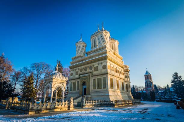 Curtea de Arges Kloster im Winter, Rumänien – Foto