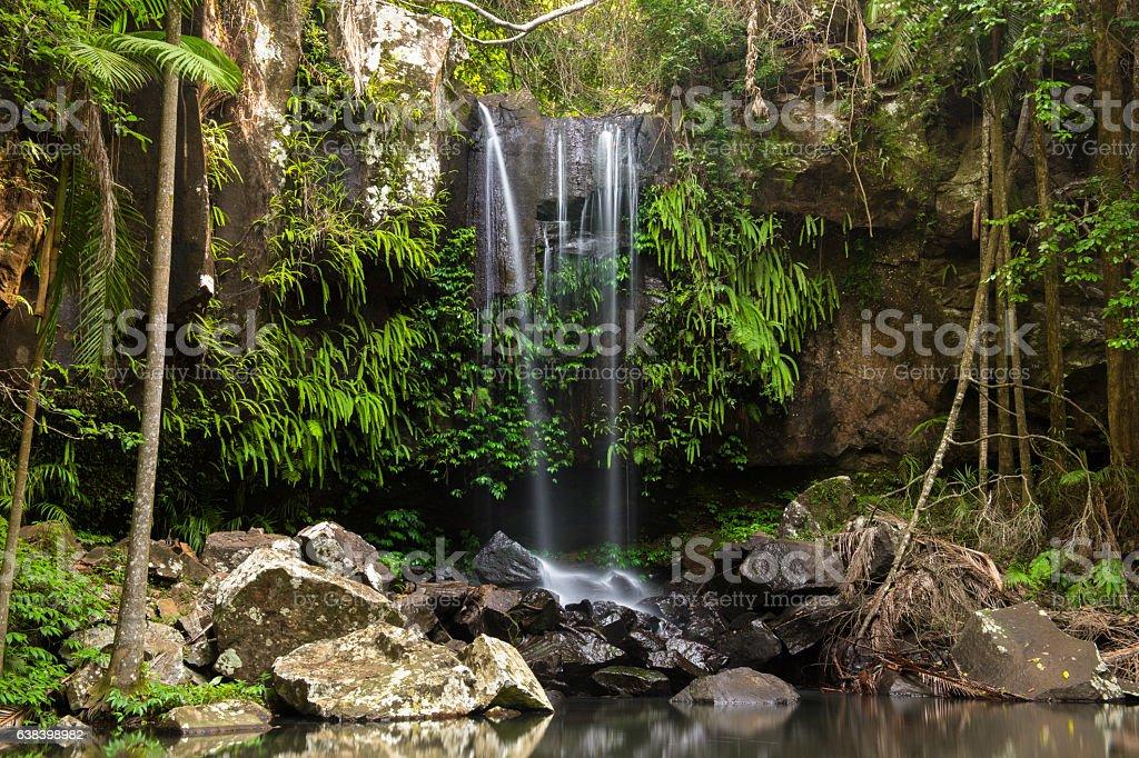 Curtis Falls Waterfall in Mount Tambourine stock photo