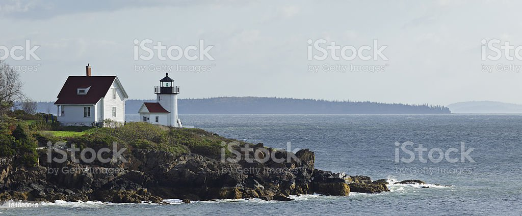Curtis Island Lighthouse royalty-free stock photo