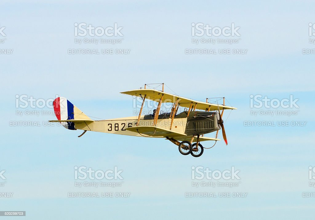 Curtiss JN-4H biplane stock photo