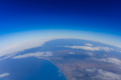 Curvature Of Planet Earth View From Above Stock Photo - Download