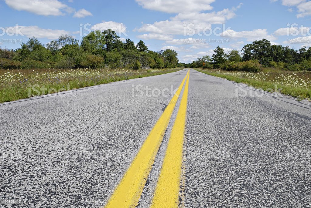 Curve Ahead royalty-free stock photo