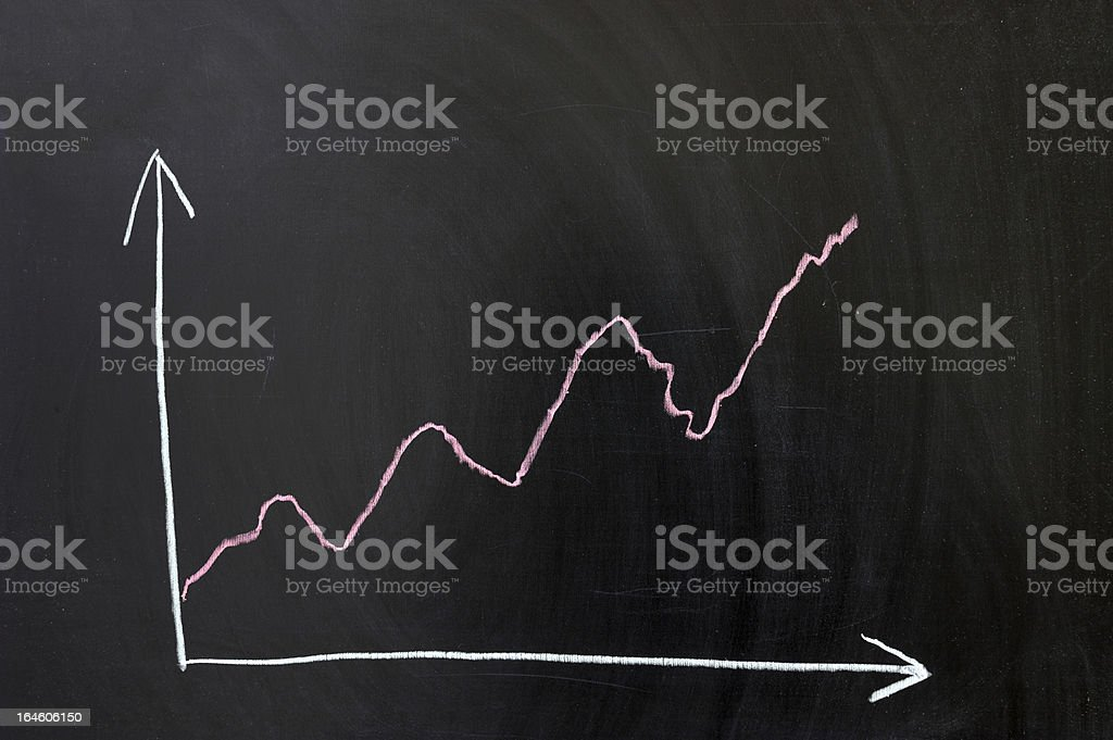curve chart royalty-free stock photo
