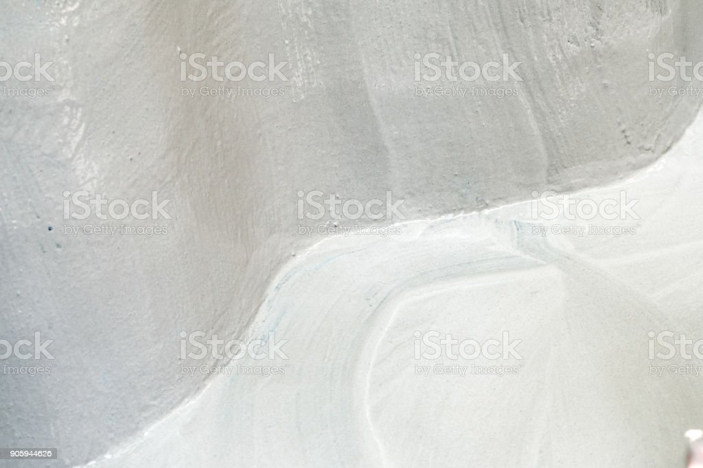 Curve Grunge Concrete Corner With Grey Paint Texture Stock Photo