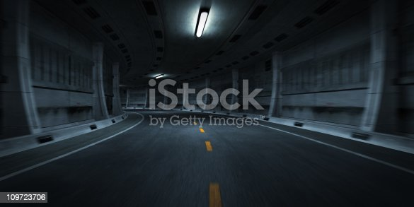 istock Curve in Road of Tunnel 109723706