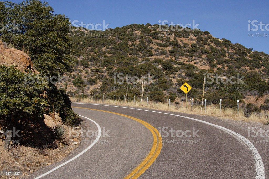 Curve Left stock photo
