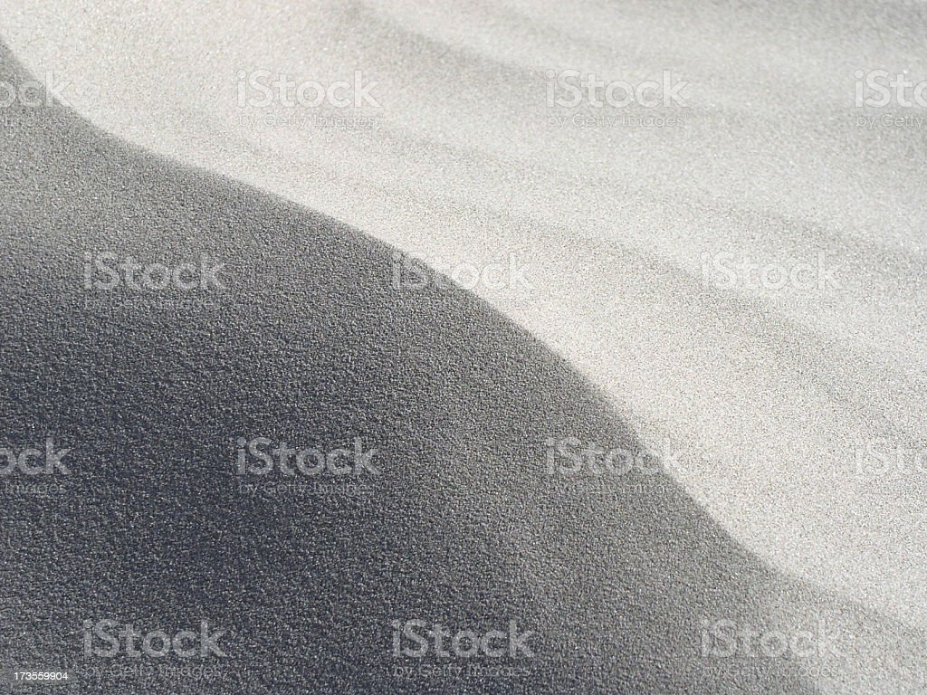 curve of sand stock photo
