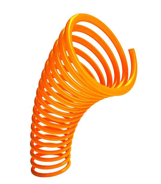 3D Curve Orange  Spring stock photo