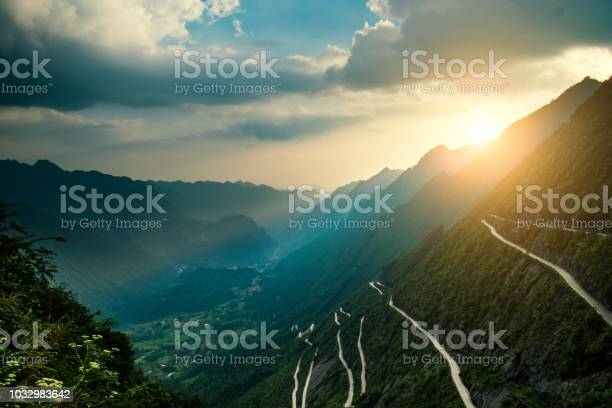 Photo of Curve road in mountains