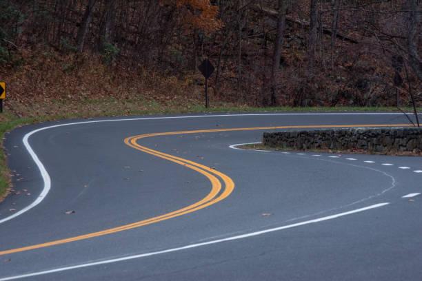 Curve Road stock photo