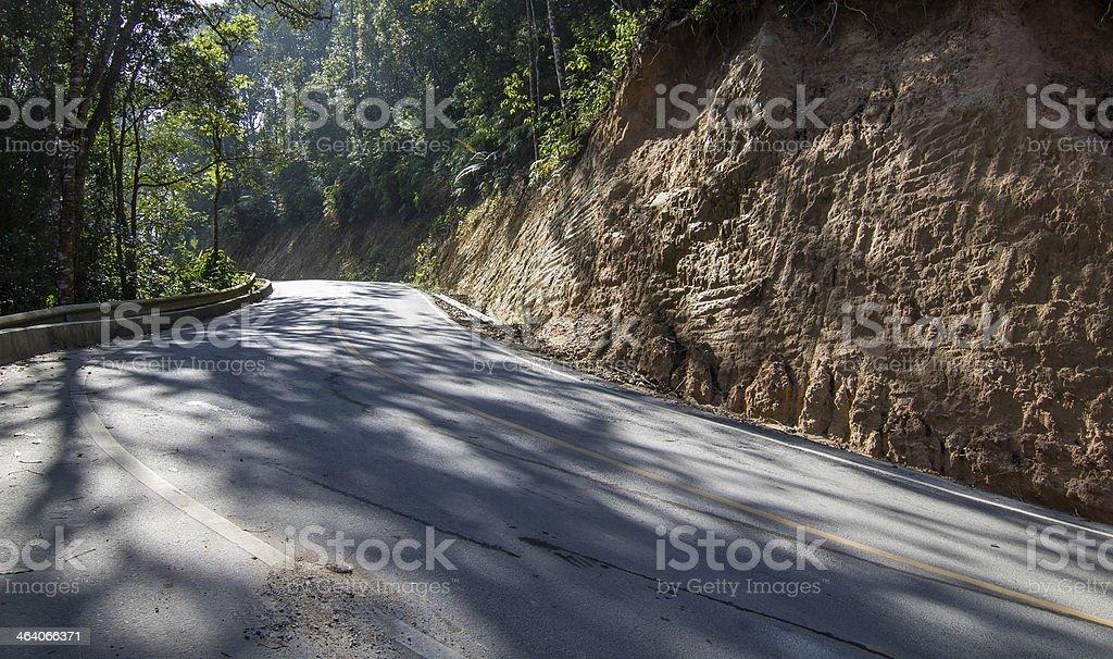S curve road stock photo