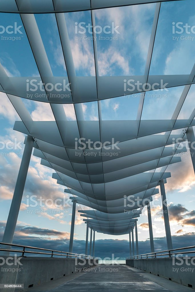 Curve Roof Viewing Platform stock photo
