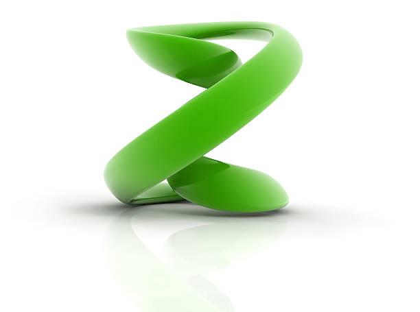 curve shape letter Z stock photo