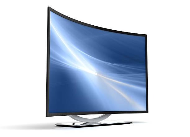 Curve TV stock photo