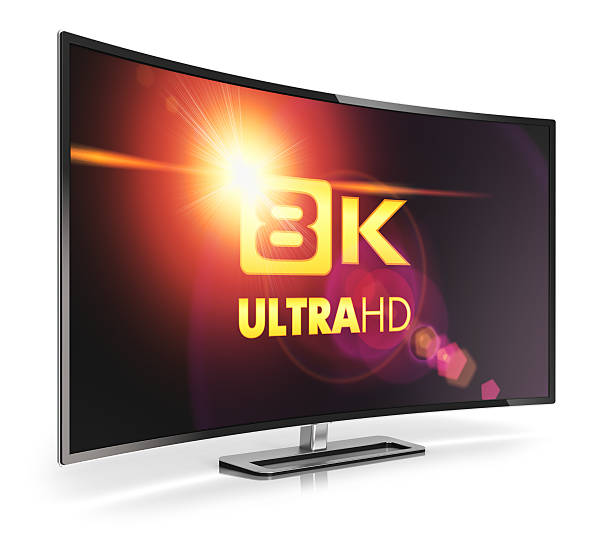 Geschwungene 8 k UltraHD-Fernseher – Foto
