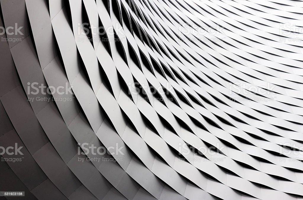 Abgerundeter und wellenförmig Metall-Dacharbeiten – Foto