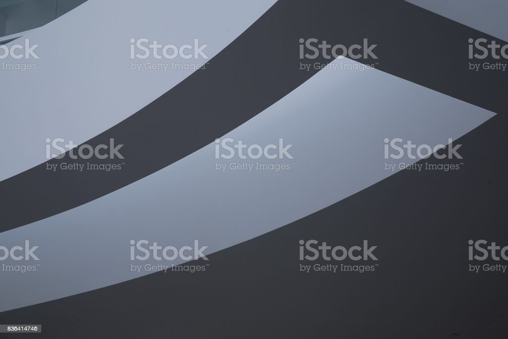 Curved architectural detail of a building stock photo