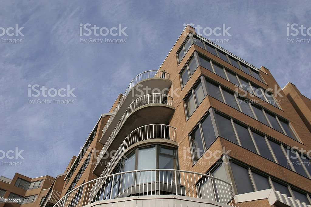 Curved Balconies royalty-free stock photo