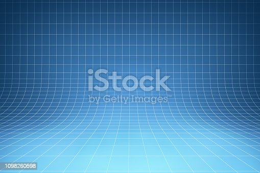 istock Curved blue background 1098260598