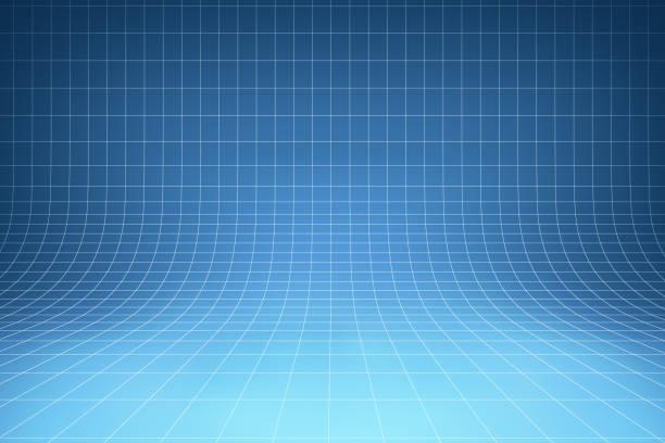 곡선된 블루 배경 - 청사진 뉴스 사진 이미지