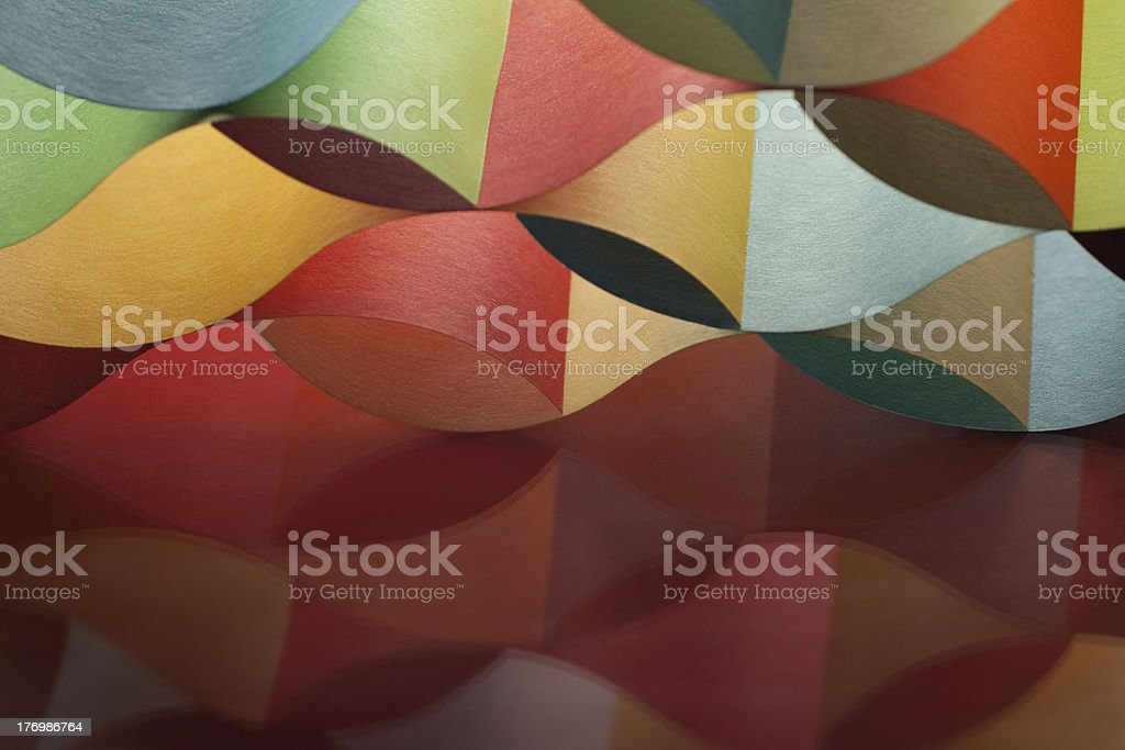 curved, colorful sheets paper with mirror reflexions royalty-free stock photo