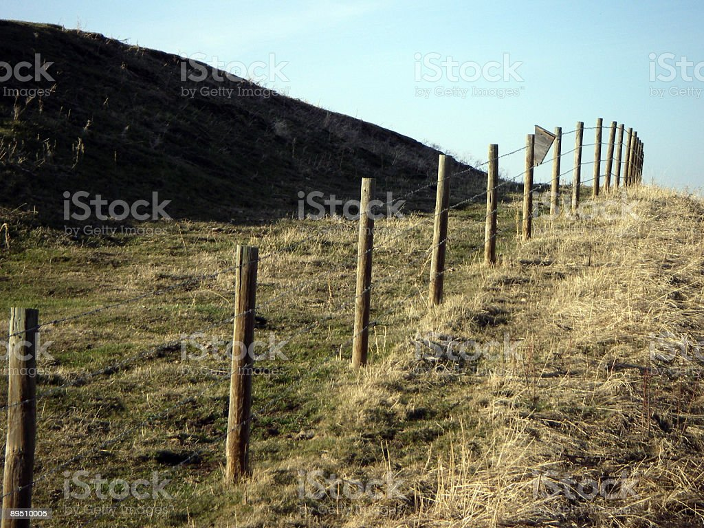 Curved Fence stock photo