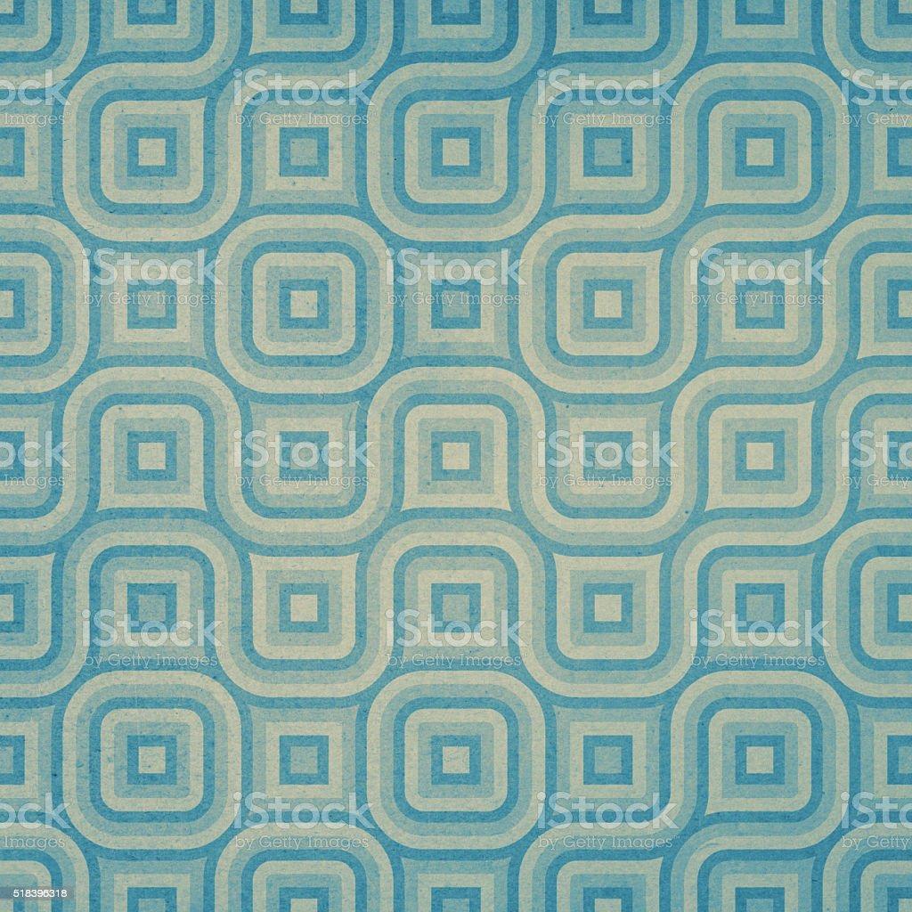 Curved geometric design on worn paper stock photo