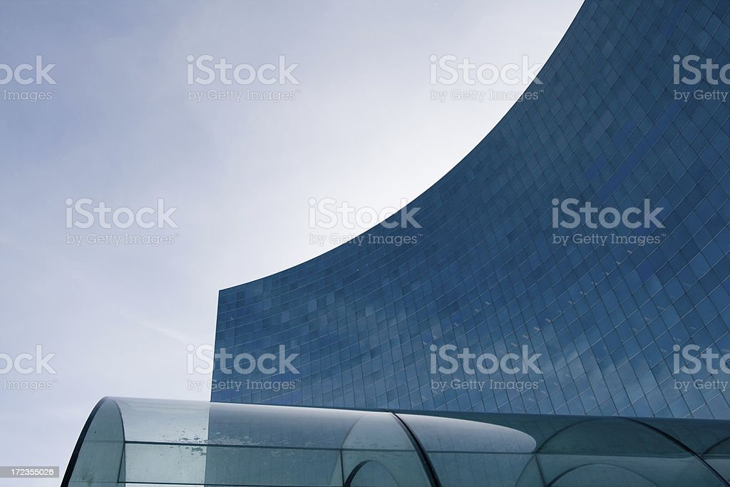 curved glass office tower royalty-free stock photo