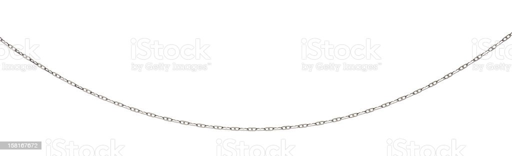 curved metal necklace with clipping path stock photo
