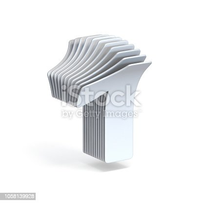 845307398istockphoto Curved paper sheets Number 1 ONE 3D 1058139928