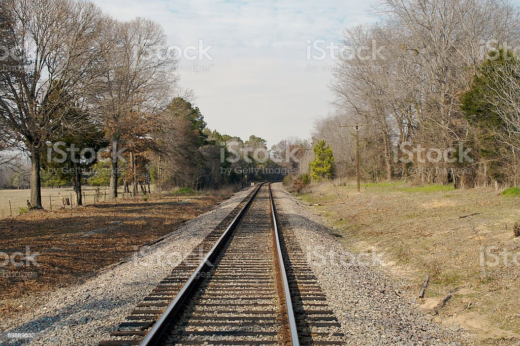 Curva de ferrocarril foto de stock libre de derechos