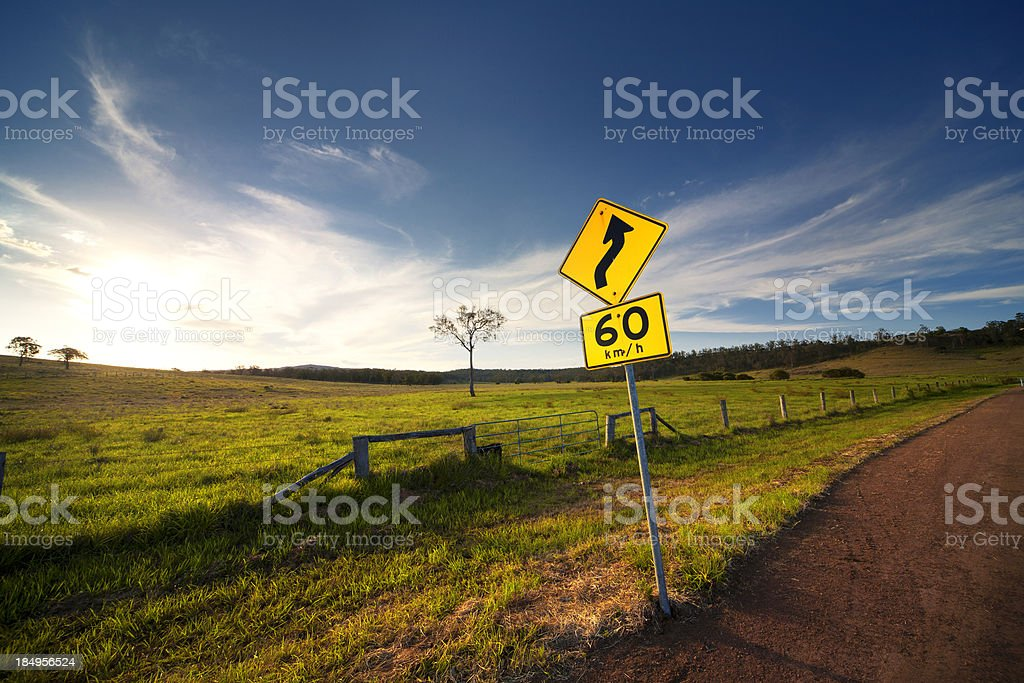 Curved Road Ahead royalty-free stock photo