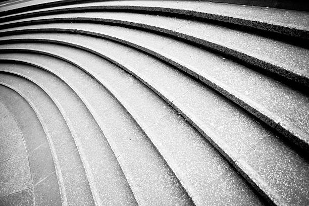 Curved steps stock photo