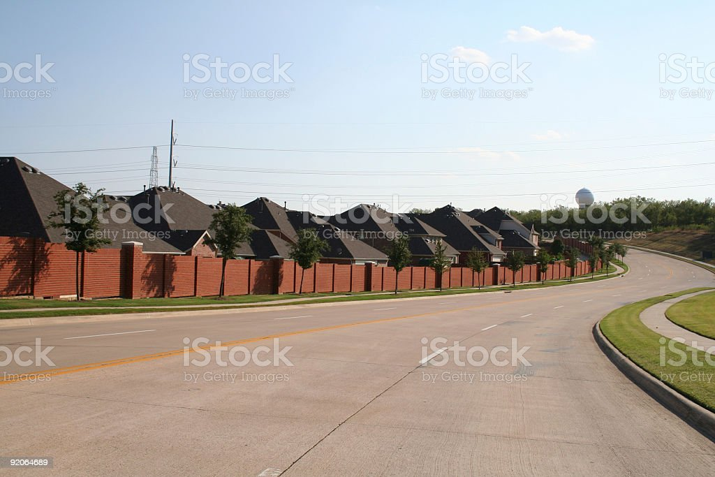 Curved Street in the Suburbs royalty-free stock photo