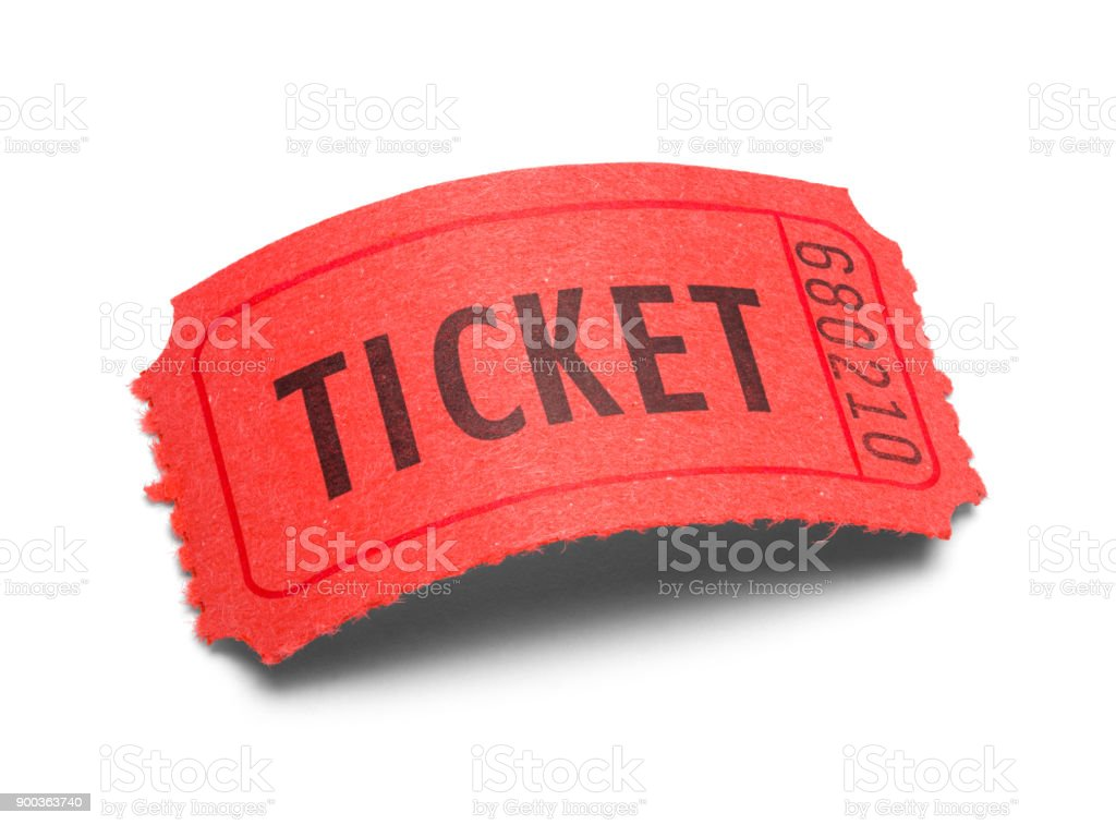 Curved Ticket stock photo