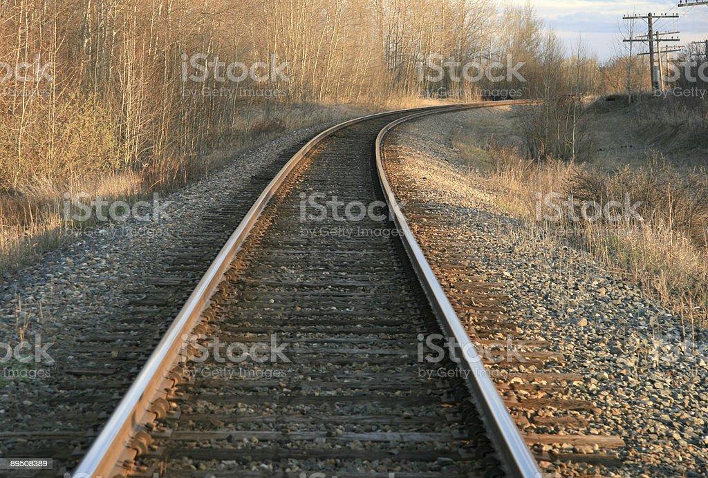 Curved Tracks Horizontal royalty-free stock photo