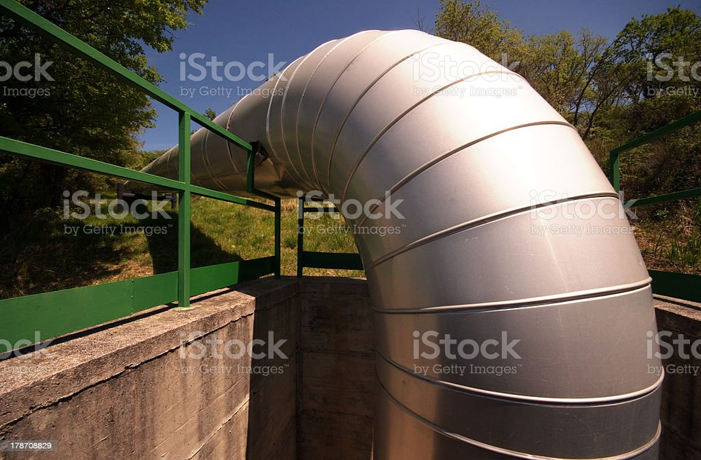 curved tube royalty-free stock photo