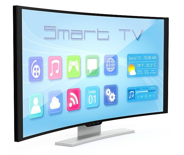 geschwungene-fernseher - 4k led tv stock-fotos und bilder