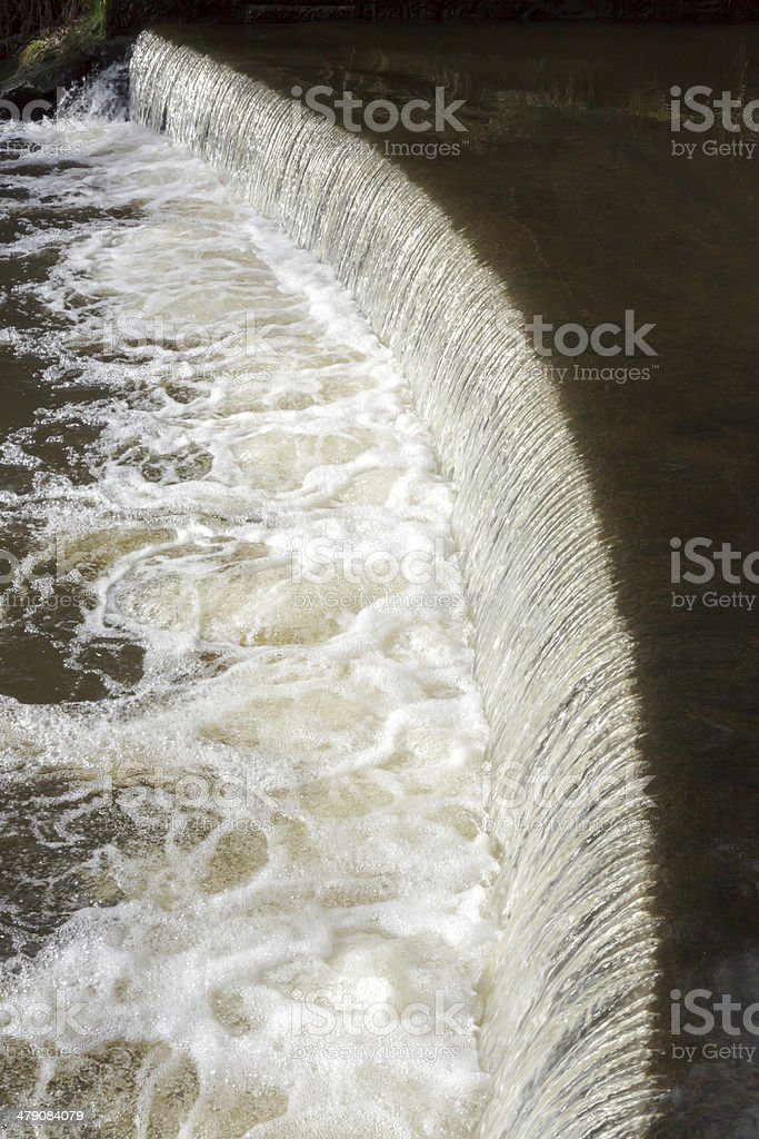 Curved Weir royalty-free stock photo