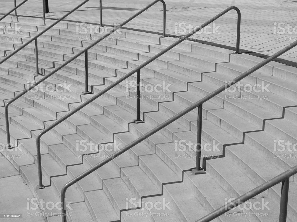 Curved Wide Staircase royalty-free stock photo