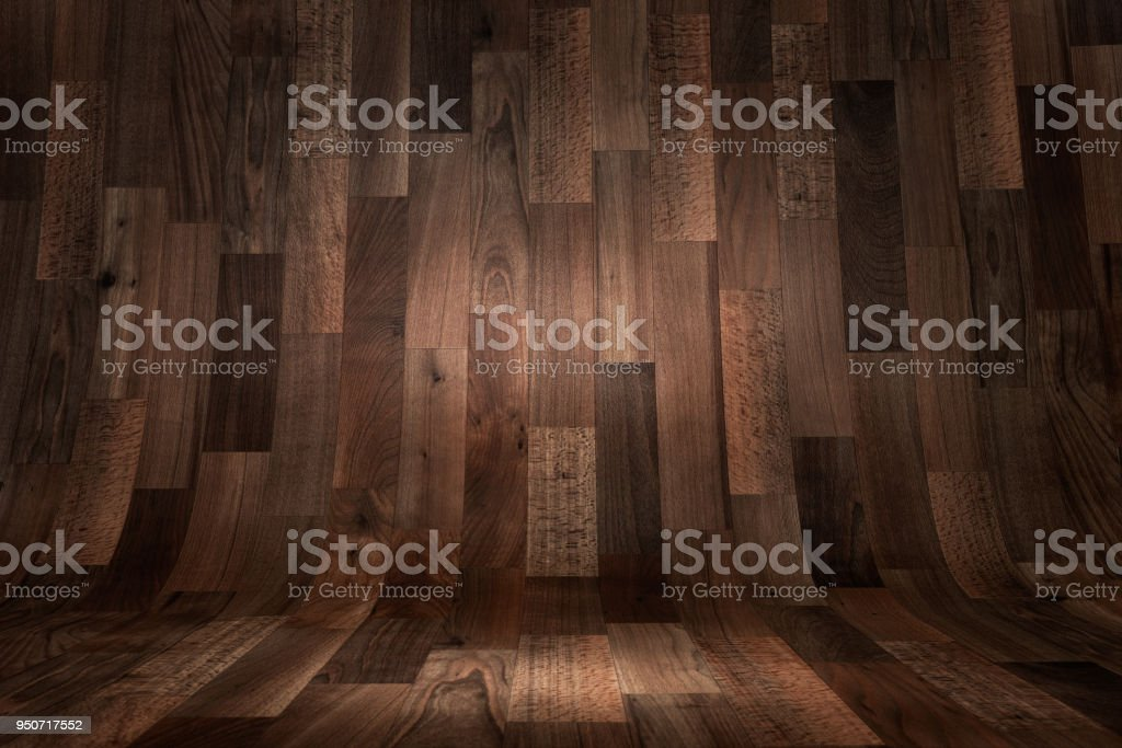 Curved wooden background royalty-free stock photo