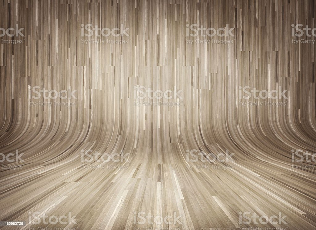 Curved wooden parquet background stock photo