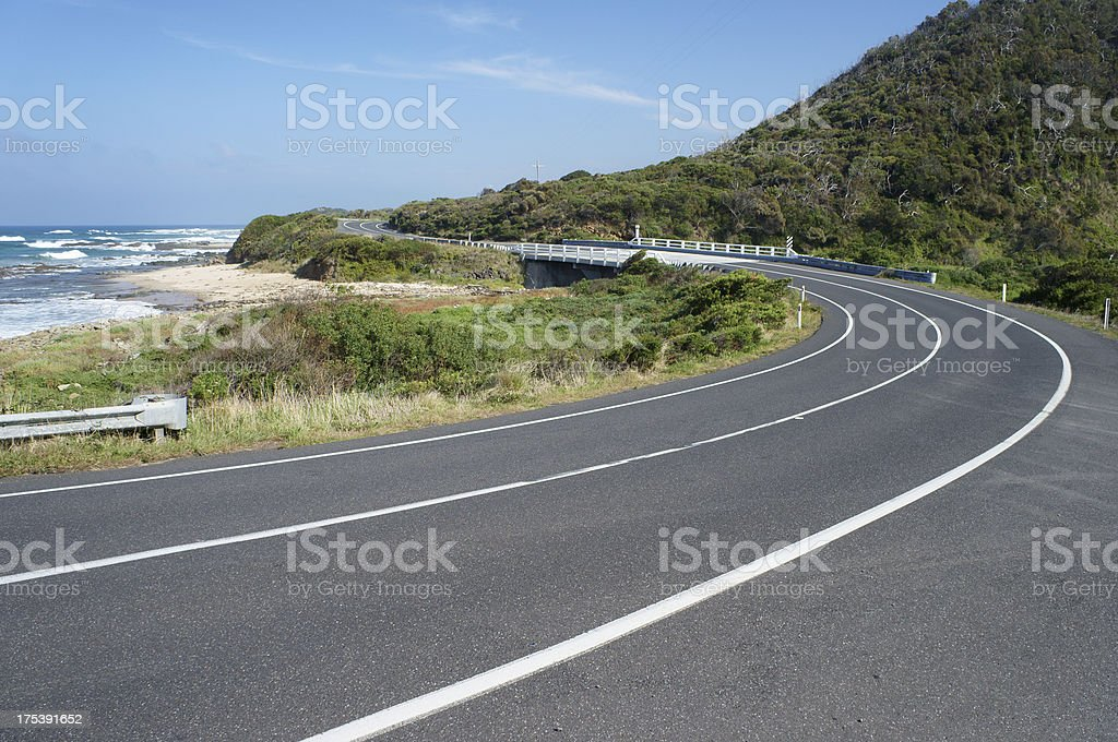 Curves Along Great Ocean Road stock photo